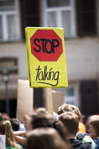 Markus Spiske, 'Stop Talking' - Climate change protest demonstration strike/Germany